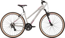 Rock Machine CrossRide 100 lady  gloss light grey/dark grey/New pink 2021 vel.17""